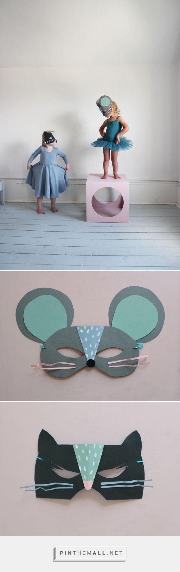 Mer Mag: DIY Paper Cat and Mouse Masks