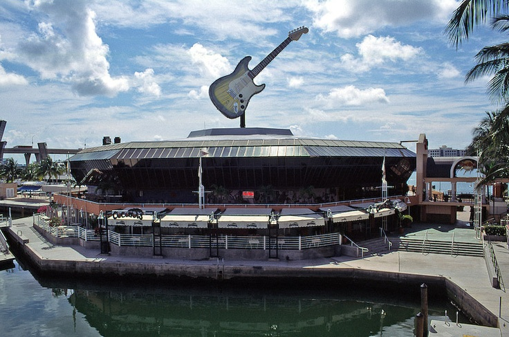 hard rock miami right next to hooters and american airlines arena where the heat plays :) biscayne bay  woohoo