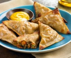 Crispy Pork Wontons...The perfect healthy Asian-inspired party snack from Biggest Loser.