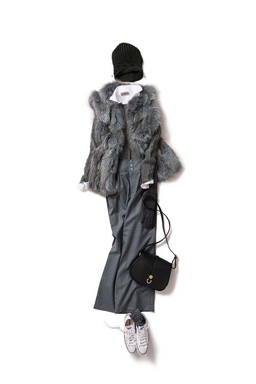 Kyoko Kikuchi's Closet #kk-closet グレートーンを エレガントに、スポーティーに着る
