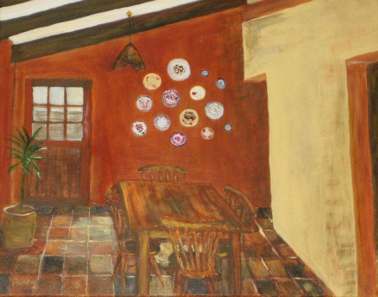 My kitchen in the style of Van Gogh, c.2009