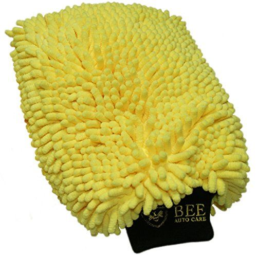 Bee Auto Care Double Chenille Car Wash Mitt and Duster - When You ADD TWO TO YOUR CART The Second One Is 50% Off at Checkout