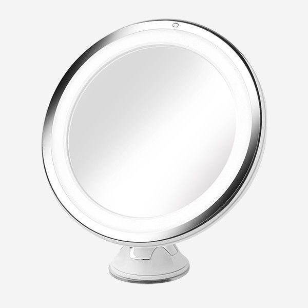 Daylight LED 10X Magnifying Makeup Mirror with Suction Mount - Round
