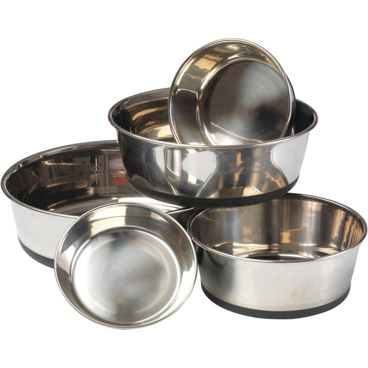 House Of Paws Stainless Steel Dog Bowl With Silicon Base (l)