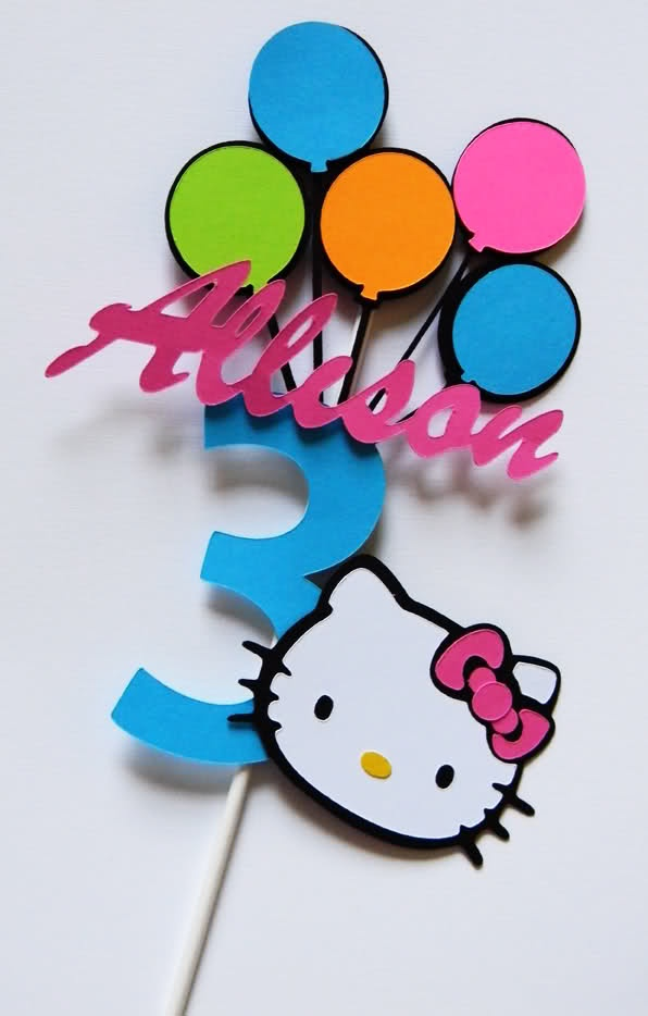 Personalized Hello Kitty Cake Toppers Or Table Centerpieces