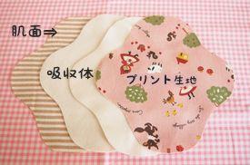 布ナプキン 無料型紙 作り方 ハンドメイドの布ナプキン candy
