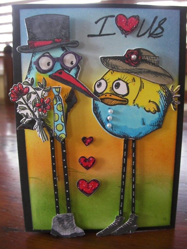 Sweet Valentine by crazykim - Cards and Paper Crafts at Splitcoaststampers
