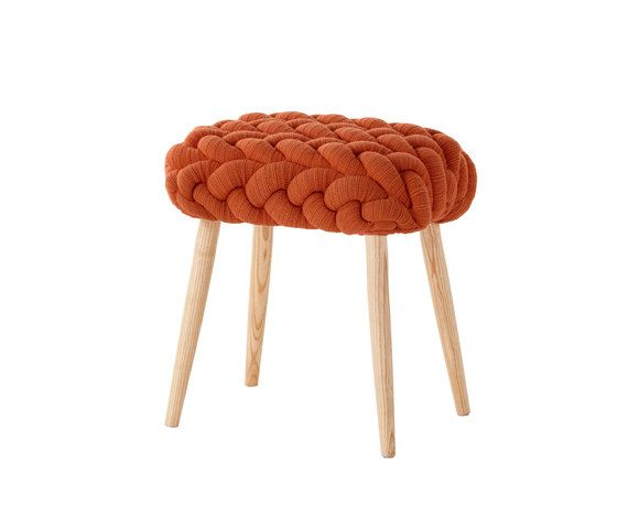 Stools | Seating | Knitted stools orange | Gandía Blasco. Check it out on Architonic