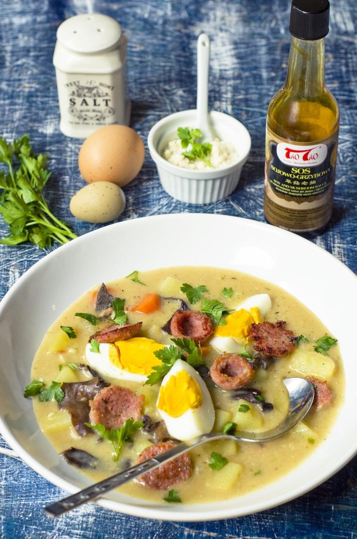 Barszcz biały z Grzybami mun TaoTao i Sosem sojowo-grzybowym TaoTao, http://taotao.pl/przepisy_kulinarne/t,barszcz/m,1/id,2265959,barszcz_bialy_z_grzybami_mun_taotao_i_sosem_sojowo-grzybowym_taotao_taotao.html