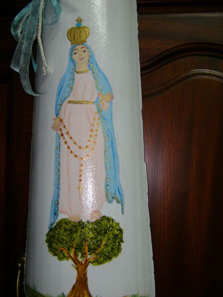 Nossa  Senhora de  Fatima pintada por Teresa