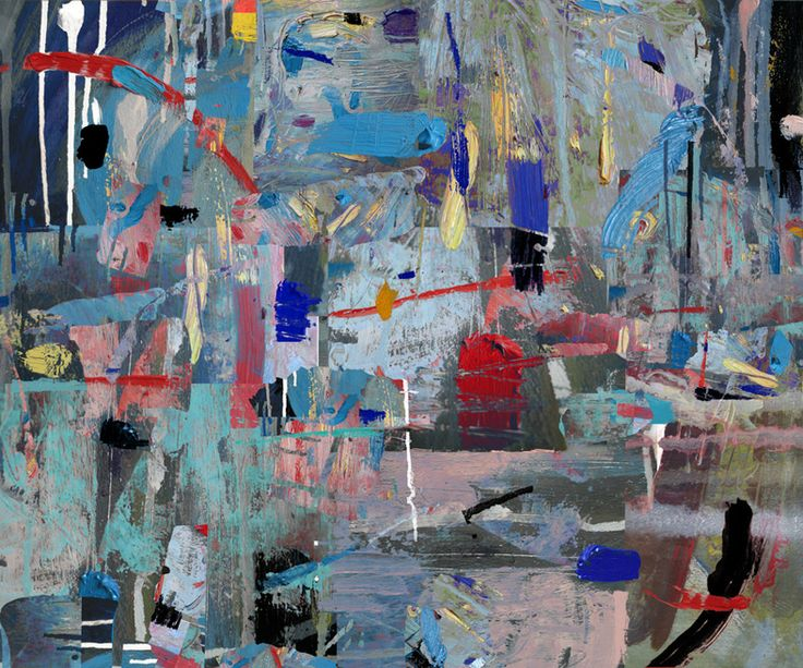 Abstrakcja Niebieska #graphic #art #digital #print
