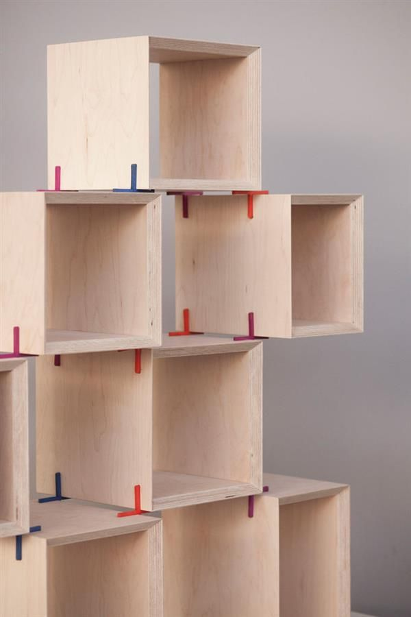 3ders.org - The + Shelf 3D printed joints let you design and construct your own…