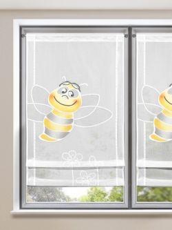 Vintage S er Raffrollo mit Bienen Motiv f r das Kinderzimmer Gardinen Outlet