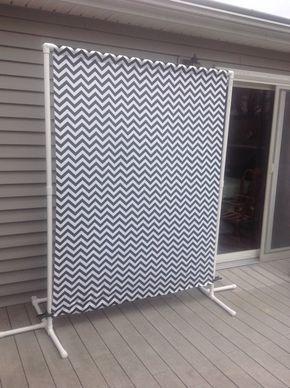 """Portátil Stand de telón de fondo w/negro Chevron tela, 1"""" PVC Photobooth telón de fondo de stand, Photobooth robusto marco. *** gratis mazo incluido ***"""