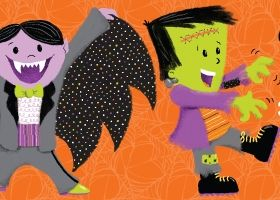 Steph Calvert/This is Halloween collection - Dracula & Frankenstein represented by Liz Sanders Agency
