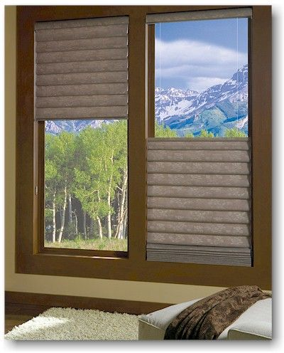 Now available with the Top-Down/Bottom-Up lifting system, Hunter Douglas Vignette Modern Roman Shades have never been more versatile.