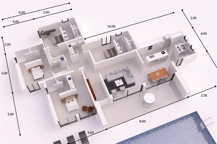 IBIZA DONACASA 232 M2 , Hormigón celular con trasdosado tejado plano