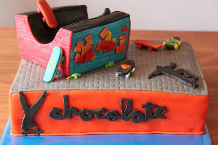 3D taarten - Koning Kikker Skateboard cake