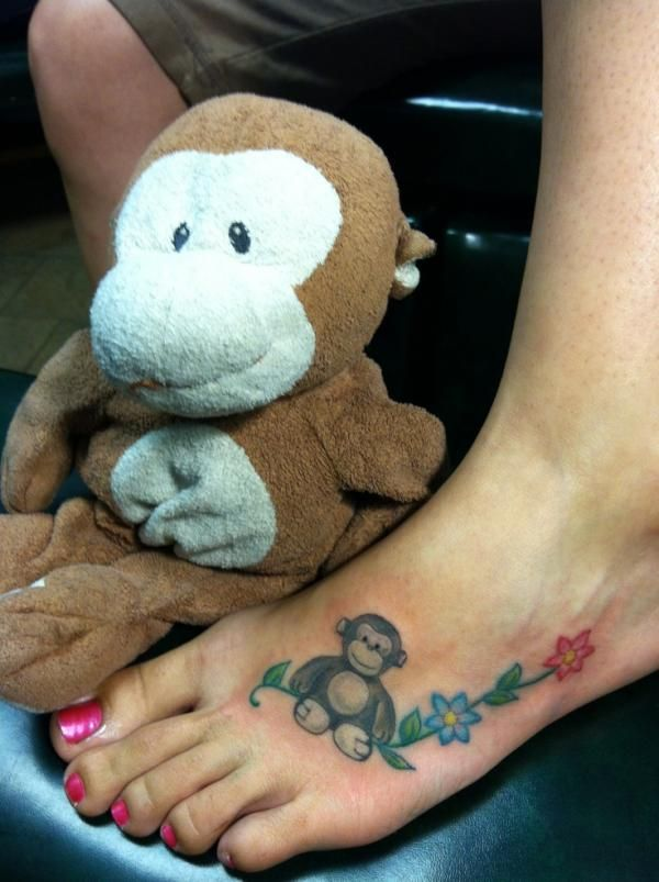 monkey tattoos, foot, ideas for girls   Favimages.net