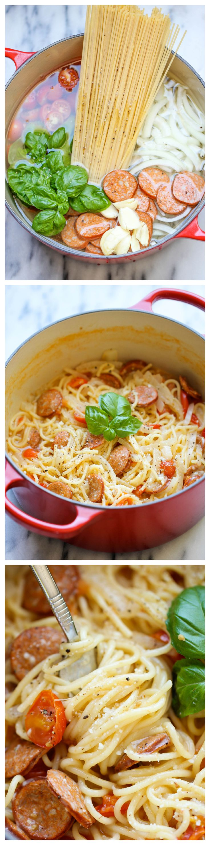 One Pot Pasta – The easiest, most amazing pasta you will ever make. Even the pasta gets cooked right in the pot. How easy is