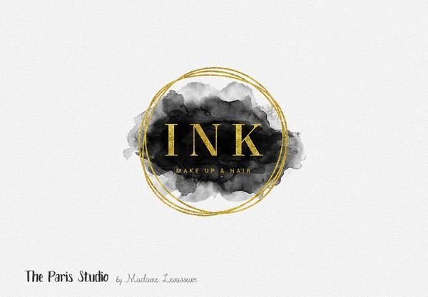 Gold Foil Geometric Watercolor Logo Design Please click here to learn how to order, what's included with a pre-made logo purchase, and many different ways you can customize a pre-made logo design at T