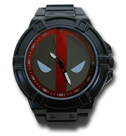 The one size fits most Deadpool Symbol Black Watch with Metal Band.  Makes a great gift!