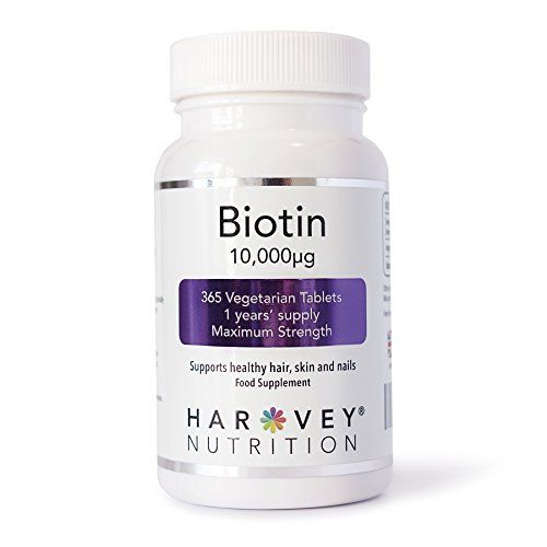 The Product Biotin Hair Growth Supplement, 365 Tablets (1 Year Supply), 10,000mcg Maximum Strength, UK Manufactured, by Harvey Nutrition  Can Be Found At - http://vitamins-minerals-supplements.co.uk/product/biotin-hair-growth-supplement-365-tablets-1-year-supply-10000mcg-maximum-strength-uk-manufactured-by-harvey-nutrition/