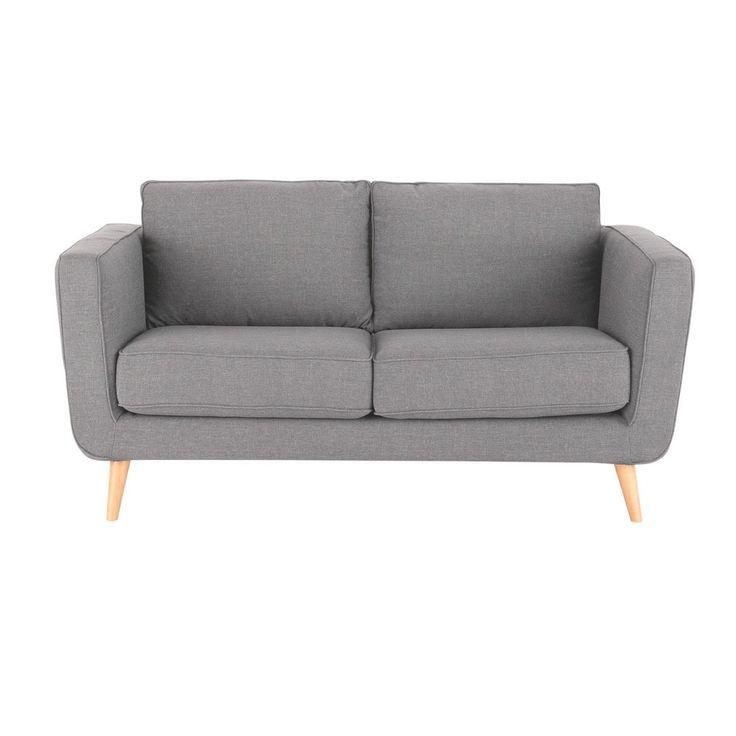 Sofa 2 /3 Sitzer Aus Stoff, Hellgrau