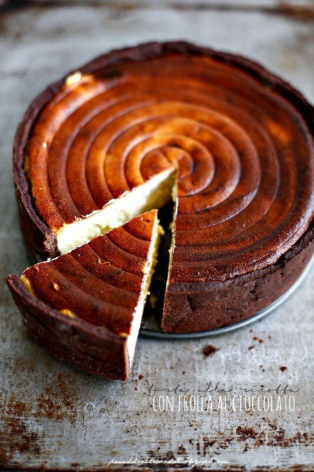 Chocolate & Ricotta Tart by panedolcealcioccolato #Tart #Chocolate #Ricotta