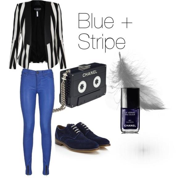 Blue + Stripe Look of the Week