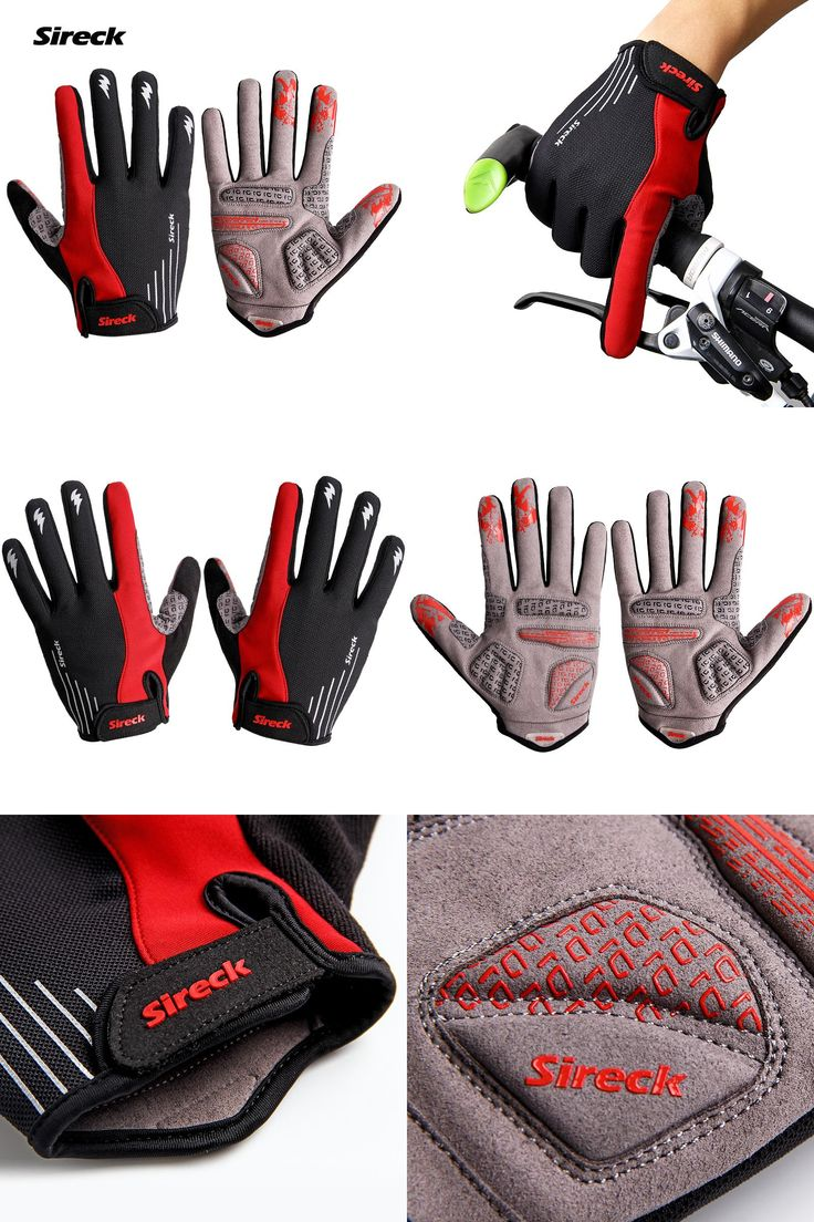 [Visit to Buy] Sireck Padded Cycling Gloves Long Finger MTB Gloves Mountain Road Bike Gloves  Bicycle Mittens Luva Guantes Ciclismo Gant Velo  #Advertisement