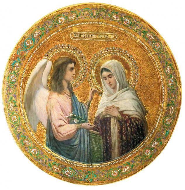 Благовещение Пресвятой Богородицы: Благовещение означает «благая» или «добрая» весть. В этот день Деве Марии явился  архангел Гавриил и возвестил Ей о грядущем рождении Иисуса Христа — Сына Божьего и Спасителя мира.