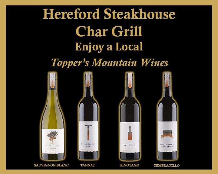 At Harry's Bar & The Hereford Steakhouse Char Grill we love ensuring that there are local beers and wines for you to enjoy with your meal.  Topper's Mountain Wines are a great local drop and there are a few varieties for you to choose from.  Celebrating all that is wonderful about the Glen Innes Highlands