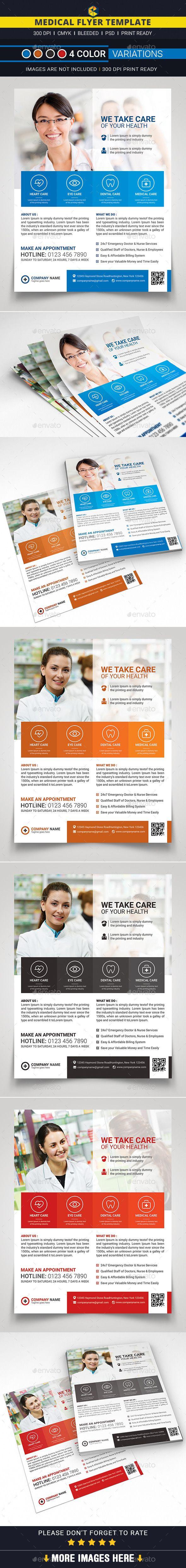 Medical Flyer Template #design Download: http://graphicriver.net/item/medical-flyer-/12442498?ref=ksioks