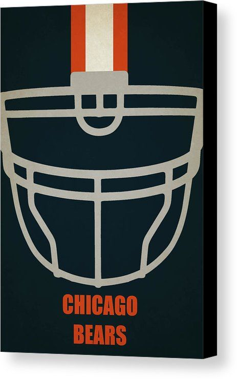 Bears Canvas Print featuring the painting Chicago Bears Helmet Art by Joe Hamilton