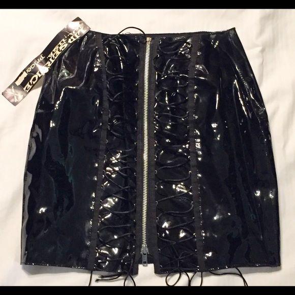 LIP SERVICE vinyl skirt *80's*