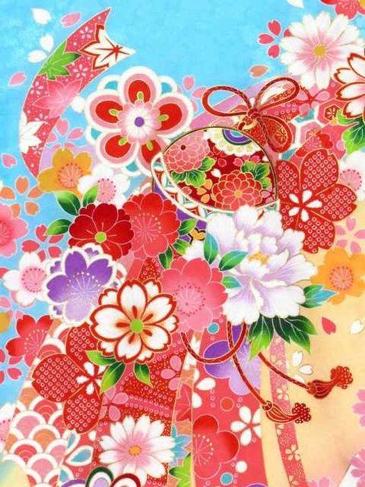 お宮参りの着物女の子用正絹の産着「水色鈴に束ね熨斗」YGU764