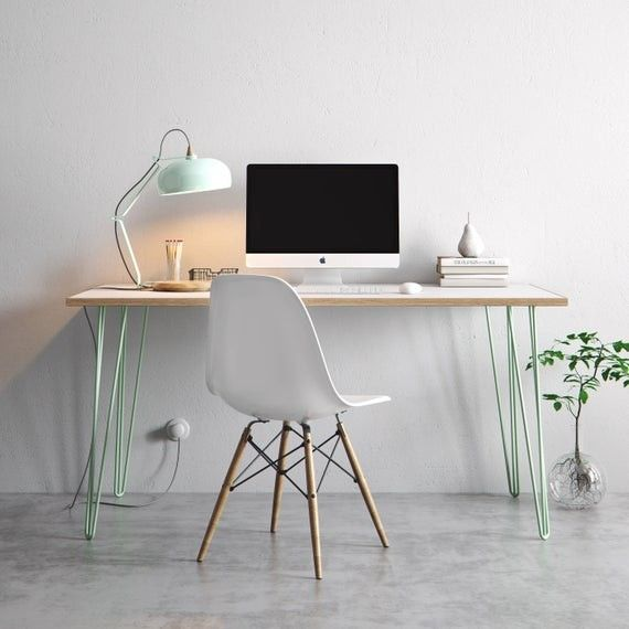 Hairpin Desk And Dining Table White Formica Birch Plywood Hairpin Desk Plywood Desk Hairpin Table