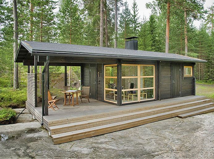 Sunhouse Modern Prefab Homes. Designer: Kalle Oikkari, architect Living area: 22.5 m2 Floor area: 25.7 m2 Dimensions: 10.3 m x 4.9 m