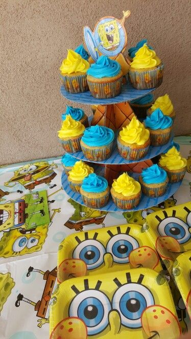Spongbob birthday cupcakes                                                                                                                                                                                 More