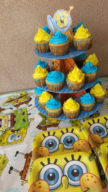Spongbob birthday cupcakes