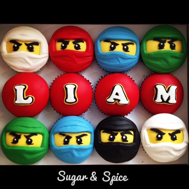 Lego's Ninjago cupcakes