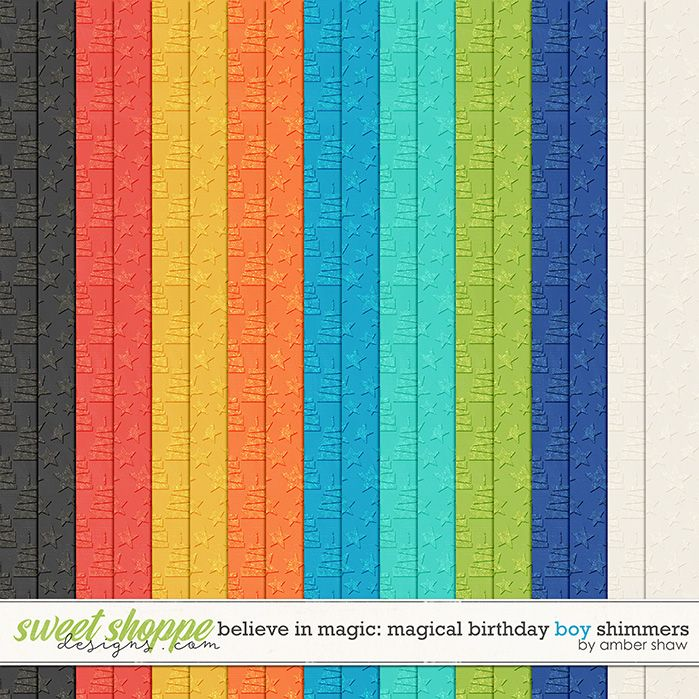 Believe in Magic Magical Birthday - Boy: Shimmers by Amber Shaw