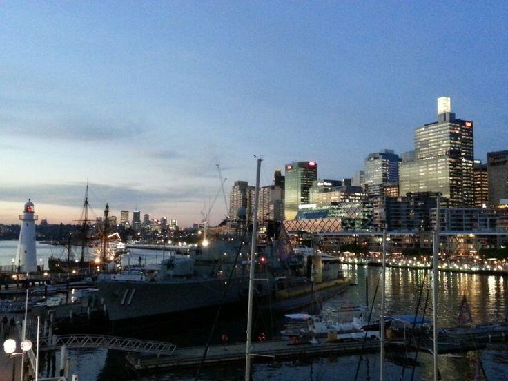 Sunset Darling harbour Sydney