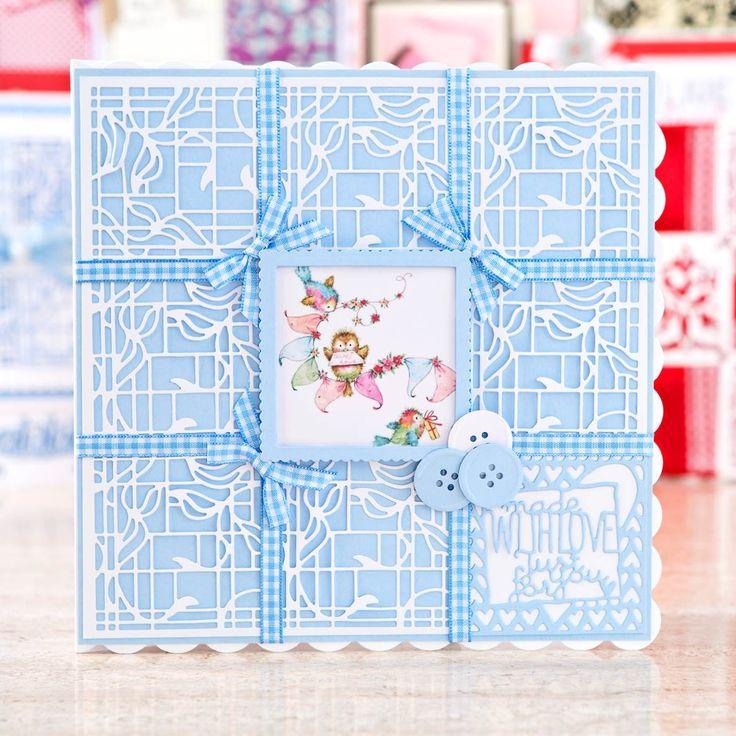 Beautiful pastel coloured card design from the @tonicstudiosuk Patchwork Perfections Bundle! Shop now: http://www.createandcraft.tv/pp/tonic-patchwork-perfections-3-sets-of-dies%2c-embossing-folder-paper-bundle-350006?utm_medium=social&utm_source=pinterest&utm_campaign=product&utm_content=pow