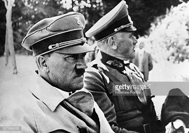 Adolf Hitler And The General Werner Von Blomberg
