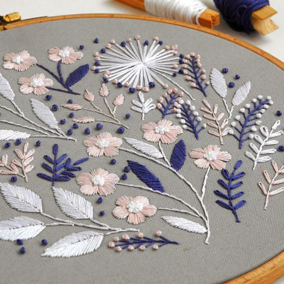 9 Decor Hand Embroidery Scandinavian Decor Floral Wall Floral Embroidery Patterns Vintage Embroidery Folk Embroidery