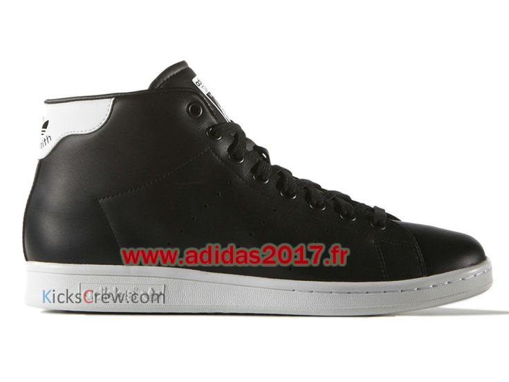 new style 28824 bedb0 ... Adidas Stan Smith Mid - Chaussure Adidas Originals Pas Cher Pour Homme  Femme Noir S75027