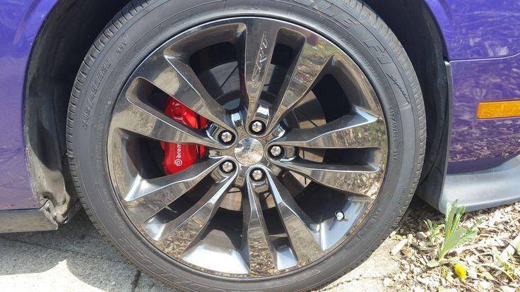 2013 14 Dodge Challenger Chrome Black Vapor Aluminum Wheel