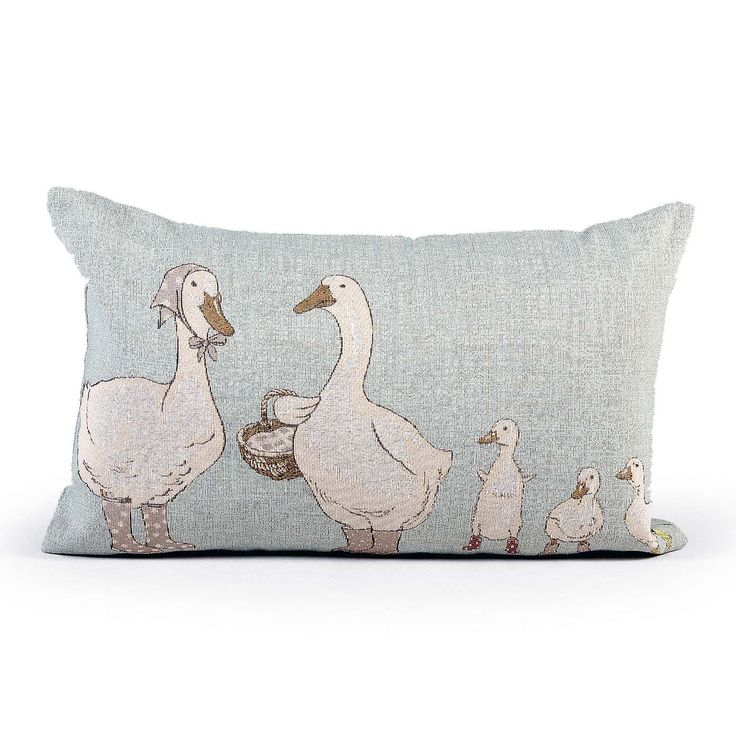 Geese in Wellies Cushion | Dunelm